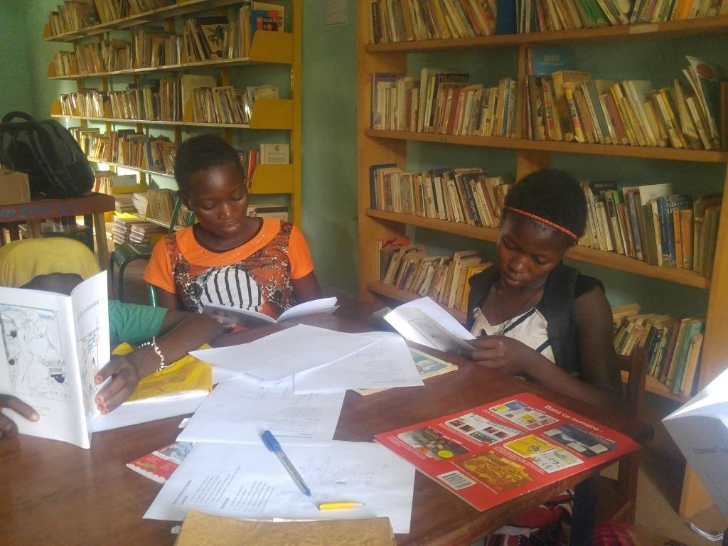 Readers in the library