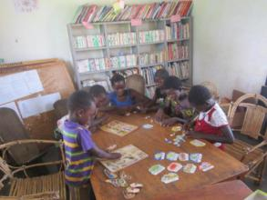 Kids in the Dimikuy village library