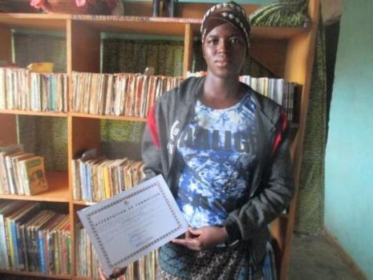 Proud recipient of certificate computer training