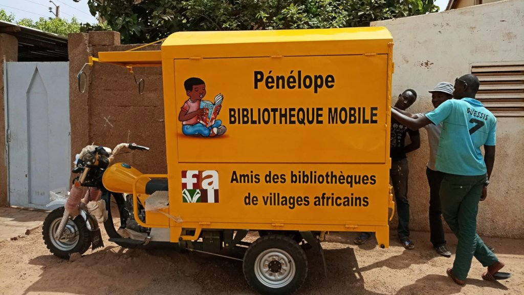 Newly painted biblio-mobile April 2018