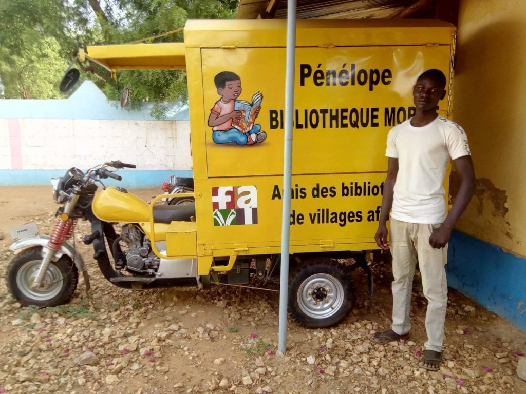 Mobile library garaged in Kaya