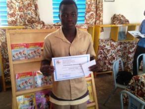 Short story writing contest winner, Burkina Faso