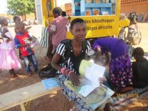 Schoolchildren find all sorts of books to read