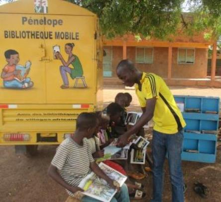 Reading in the mobile library, July 2020