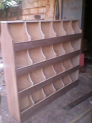 Book shelf for mobile library