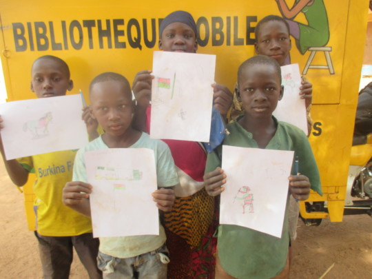 Drawings! Mobile library, Burkina Fas