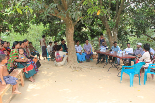 Community Meeting with the villagers and Udion