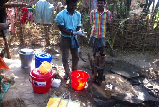 Chlorinating a Hand Pump