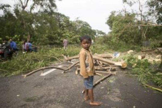 Shiboo's village was ravaged by Cyclone Phailin