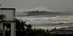 Waves from Cyclone Phailin