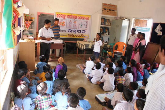 Hygiene Promotion at a School in Balasore District