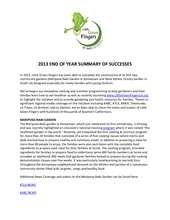2013 Successes Report (PDF)