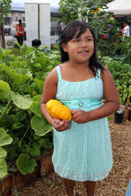 Young Gardener at Eastmont Garden Grand Opening