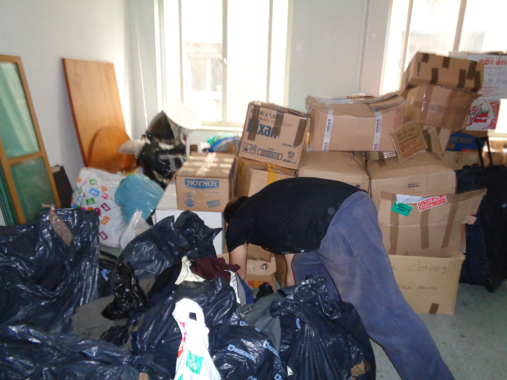 DONATIONS WE RECEIVE ARE MOSTLY CLOUTHS NOT FOOD