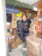 Gathering donations and supplies for distribution