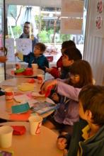 H.U.G with workshops for Greek & Refugee children