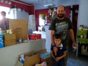 Food distributions to Greek families
