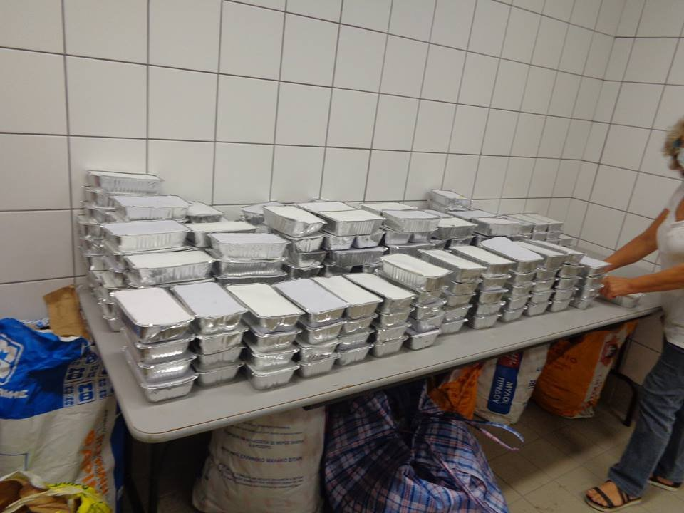 Common meals for Greek families in need