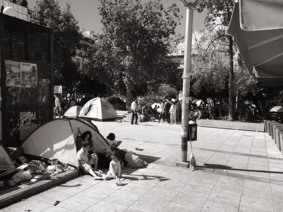 b. First wave of refugee families in Athens