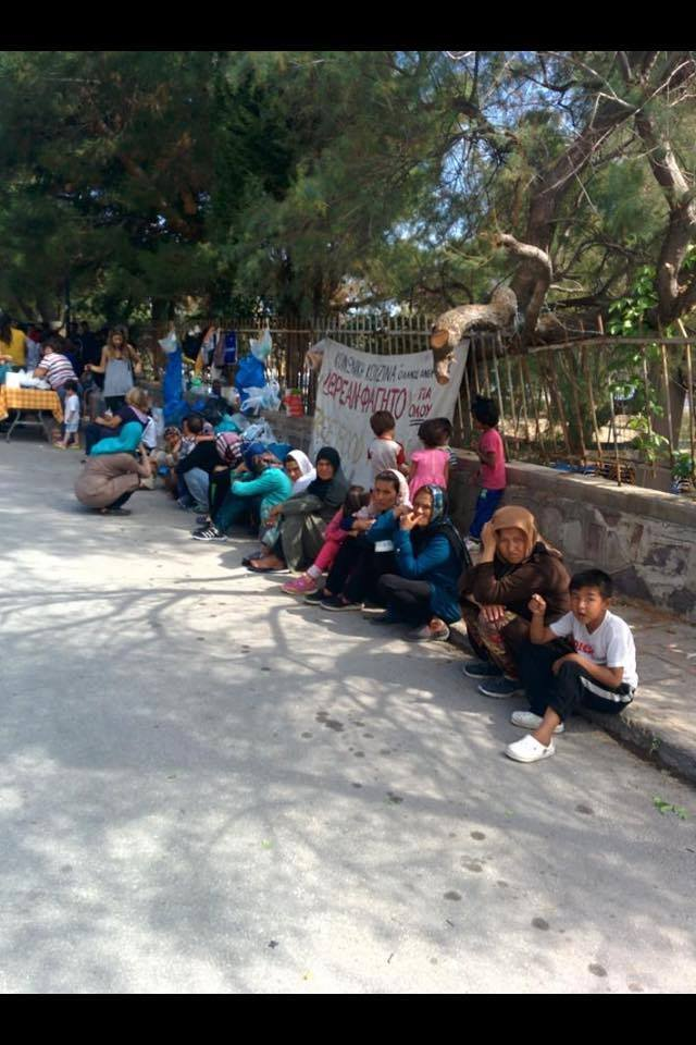 refugee families in Athens where schools exist