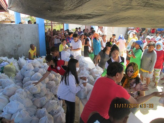 AAI Relief Distribution in Batad on November 16