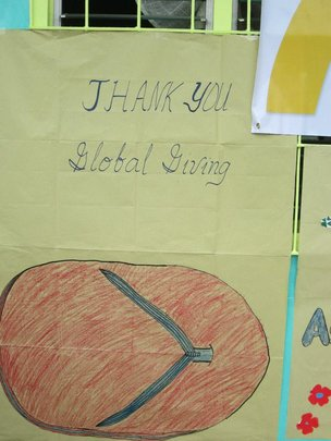 Bulak students thank Global Giving for sandal fund