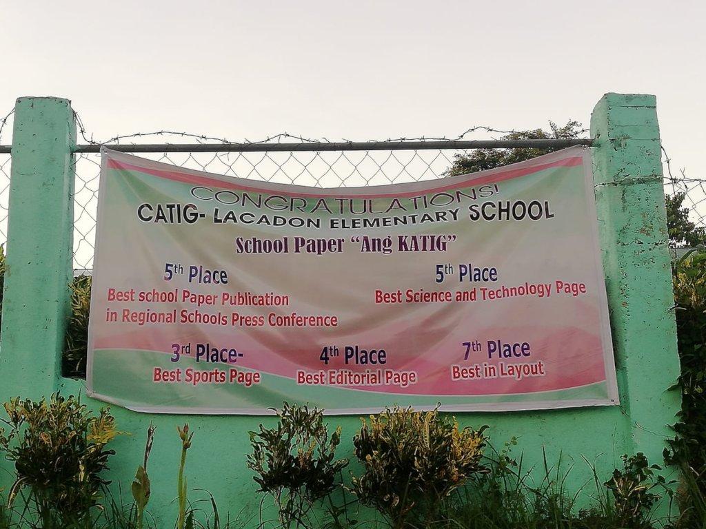 Banner showing Catig Lacadon awards