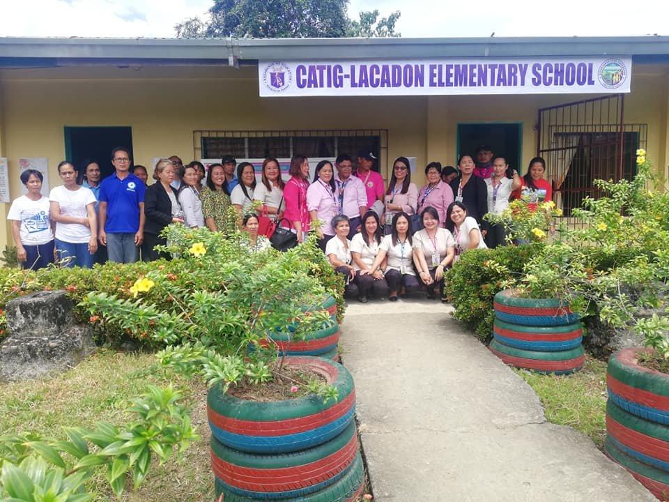 Principal Rowena with faculty