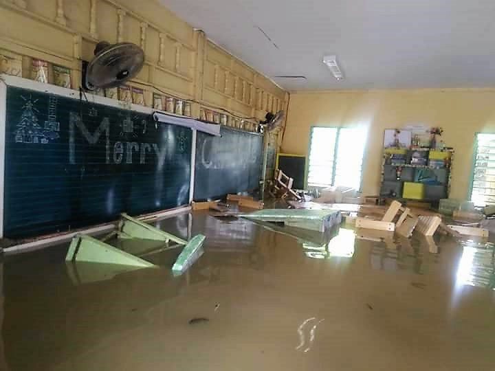 Classroom Flooded at Christmas in Cuartero