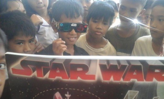 Star Wars Books in 3-D at Carataya Elementary