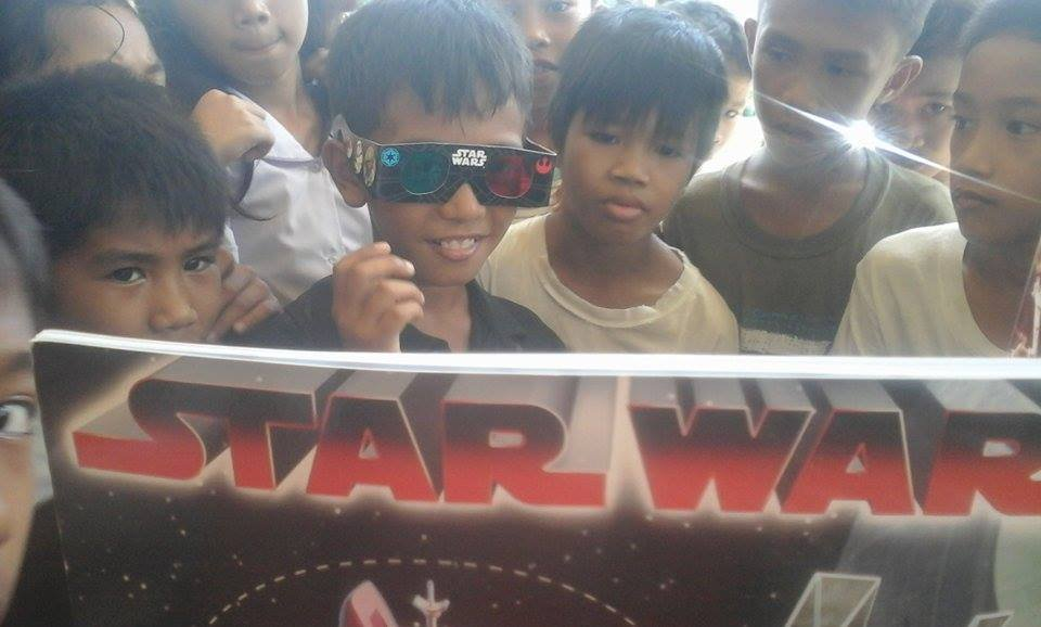 Star Wars Books in 3-D at Carataya Elementary