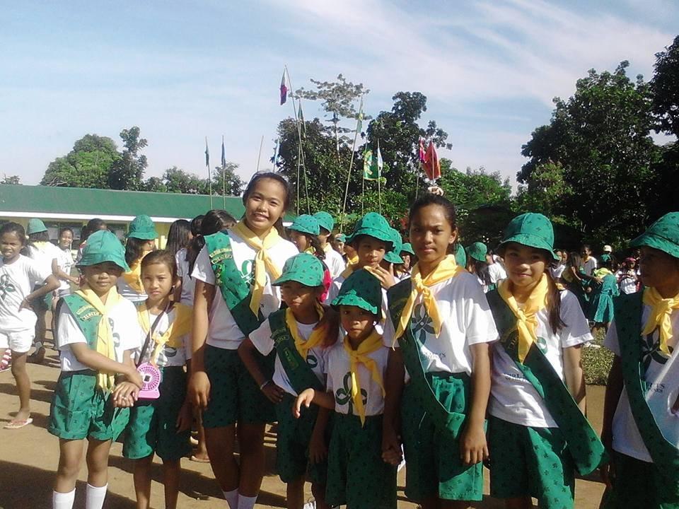 Girl Scout troop at Bulak Elementary SChool