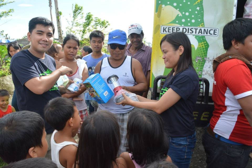water filters provided to families by AAI