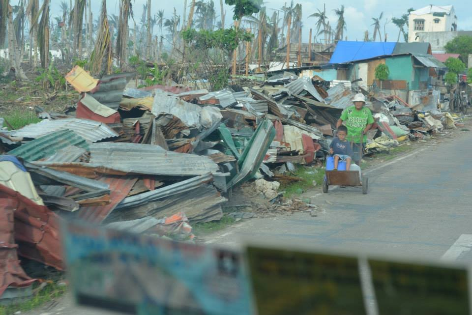 Flattened town in Leyte assisted by AAI-OWI-IPI