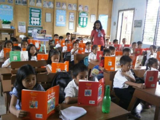Reading Class with AAI donated books
