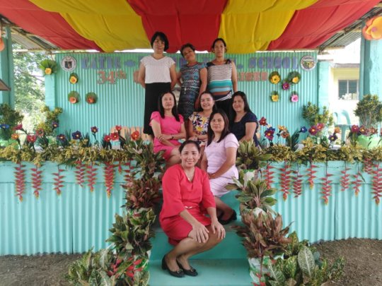 Teachers at renovated Catig-Lacadon Elementary