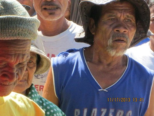 Elderly typhoon survivors