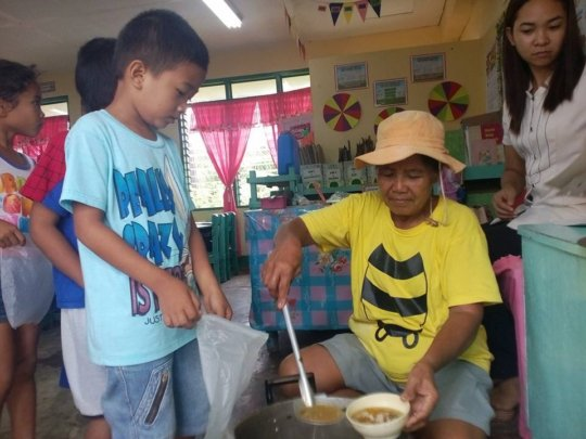Grandma Serves School Lunch