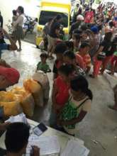 temporary medical shelter for quake victims
