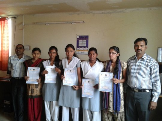Certificates in their hands