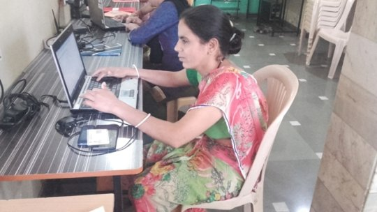 Radha at IDEA computer centre