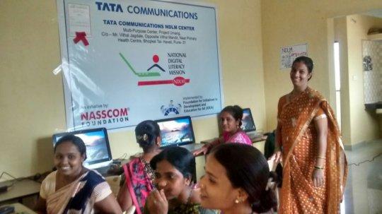 Rekha seen in a cream colour Saree attending class