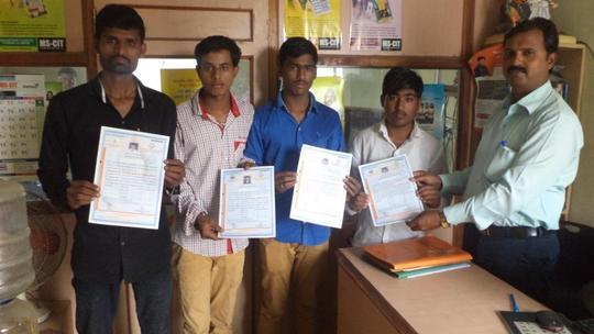 Students receiving MSCIT Certificate
