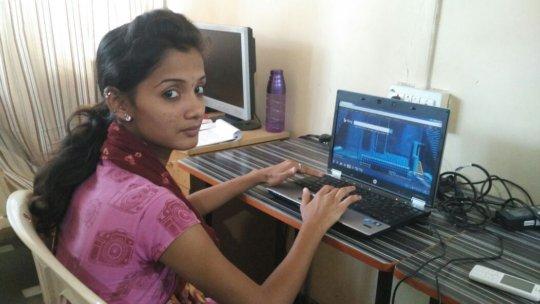 Aarti at IDEA computer centre