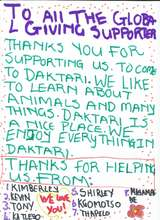 A personal thank you to you, from the children. (PDF)