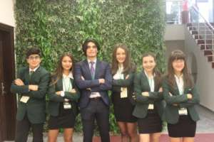 Students at the MUN Conference