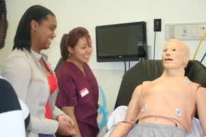 CPR station at GWU Hospital
