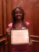 Whitney with her New Futures Scholarship
