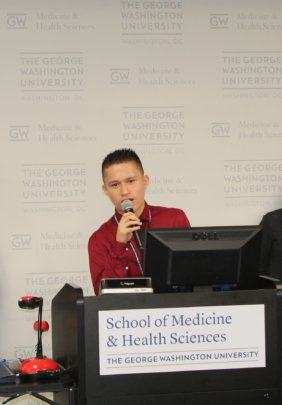 Jordy presenting at George Washington University.