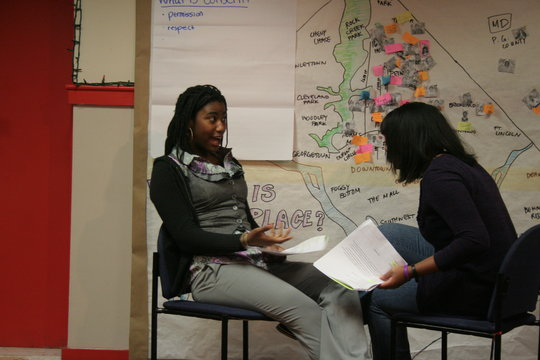 Participants role playing.